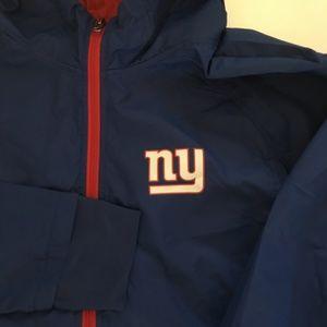 NFL New York Giants Windbreaker Red XXL Thumbholes